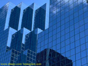 Frameless Glass Curtain Wall for High Rise Building Construction