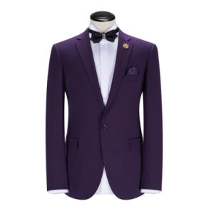 New Arrival Fashion Business Wedding Slim Fit Man Purple Suit pictures & photos