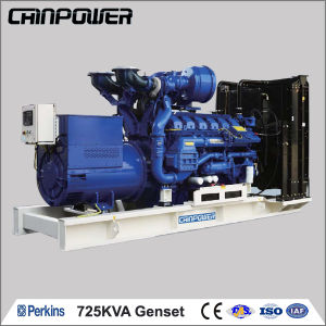 725kVA 50Hz Open Type Water Coolant Made in UK Perkins Diesel Generator  with ATS and UK Deepsea Controller
