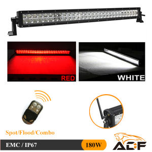 180W Flashing White & Red Multi-Colour Remote Control LED Light Bar for 4X4 Jeep SUV