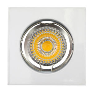 Die Cast Aluminum GU10 MR16 White Square Fixed Recessed LED Lighting (LT1001) pictures & photos
