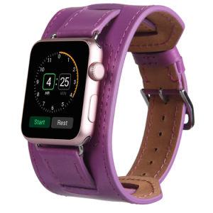 55fcdbdb8 Ladies Elegant Wide Genuine Leather Watch Strap for Apple Watch Band