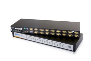 China Kinan 16 Port USB VGA Kvm Over-IP Switch with Local & Remote