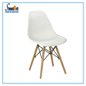 Modern Stackable White Plastic Cafe Chair