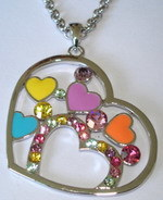 Costume Jewelry - Big Heart Pendant Necklace