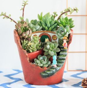 sweet house plant holders. Creative Plants Pot Flower Succulent DIY Container Decorated with  Mini Hanging Fairy Garden and Sweet House China