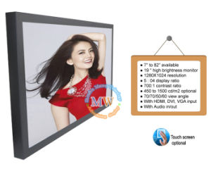 Commercia 19 Inch LCD Advertising Display with Vesa Wall Mount (MW-194MBH) pictures & photos