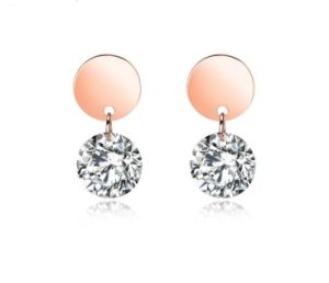 49bdfce25067f New Hot Luxury AAA Cubic Zircon Rose Gold Color Stud Earrings for Women  Fashion Romantic Girl Jewelry Ladies Round Earrings