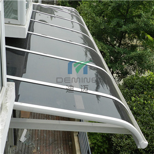 1200 * 1200 Aluminum PC Awning Canopy with Polycarbonate Solid Sheet
