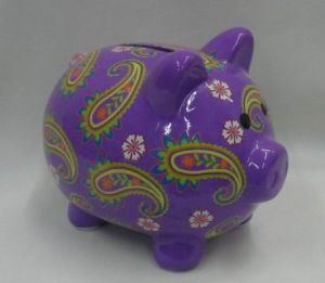 Ceramic Piggy Money Bank (104122-1)