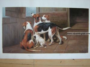 Animal Oil Painting On Canvas (T35)
