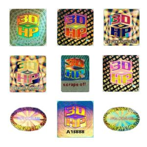 High Grade Customized Multicolor 3D Hologram Sticker
