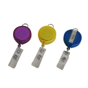 Round Badge Holder with Key Chain  (HB5102, HB5102-1)