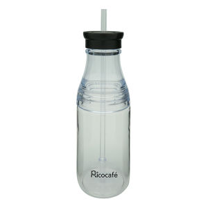 Tritan Single Wall Bottle with Straw