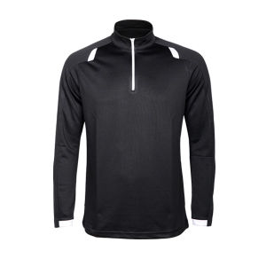 Long Sleeve Polyester Running Sports Shirts with Stand Collar pictures & photos