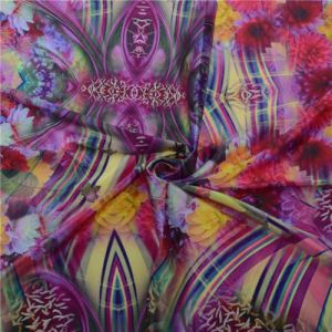 100% Silk Digital Printed Silk Fabric (TLD-0026) pictures & photos