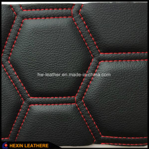 Stiched Car Seat Microfiber Leather with Sponge Back Hx-M1705 pictures & photos