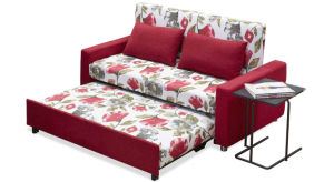 Fashion Functional Fabric Sofa Bed with Armrest pictures & photos