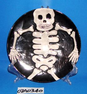 Round Ceramic Cookie/Candy/Pie Plate for Halloween Decoration
