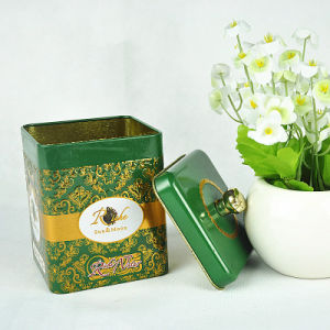 Customized Promotional High Quality Chinese Tea Tin Box, Tin Box for Tea