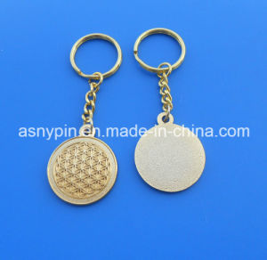Merry Christmas! Gold Cut out 3D Flower of Life Design Key Chain Christmas Gift pictures & photos