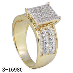 925 Silver Women Ring Jewelry with Two Tone Plated pictures & photos