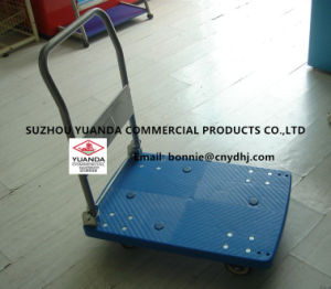 Heavy Duty Aluminum Platform Hand Truck with 4 Wheels pictures & photos