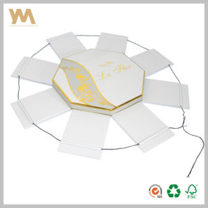 Creative White Octagonal Paper Gift Box with Rope pictures & photos