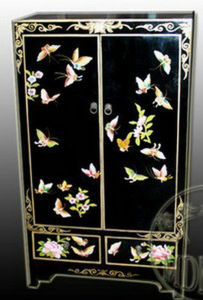 Antique Furniture Chinese Butterflies Painting Cabinet Lwb710-2 pictures & photos