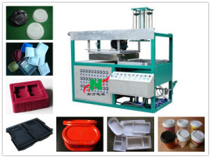 Semi-Auto Mini Vacuum Thermoformer for Plastic Tray Food Container Packing Covers and Disposable Cup Lid