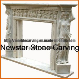 Angel Marble Fireplace Mantel Mf1721 pictures & photos