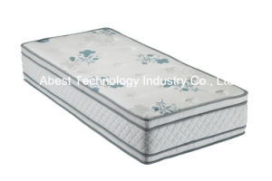 Hot Sale Euro Pillow Top Pocket Spring Mattress with Elegant Cover