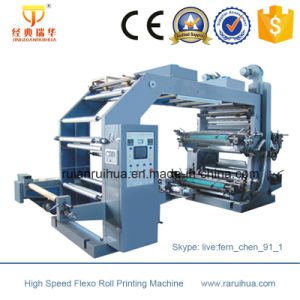 Paper Roll 4 Colour Flexo Printing Machine pictures & photos