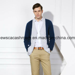 Men′s 2 Color Mixed Pure Cashmere Sweater