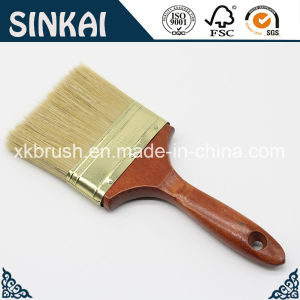 Natural White Bristle Clean Painting Brush with Wooden Handle pictures & photos