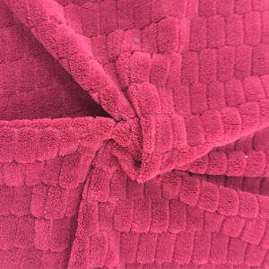 100% Polyester Grid 4 Jacquard Flannel Fleece