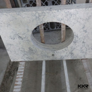 Customized Acrylic Solid Surface Bathroom Vanity Top pictures & photos
