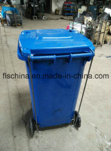 Hot Sale Pedal Plastic Garbage Bin Waste Bin 240L pictures & photos