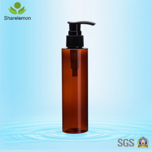 150ml Amber Plastic Cosmetic Bottles with Pump Sprayer for Cosmetic Packing pictures & photos