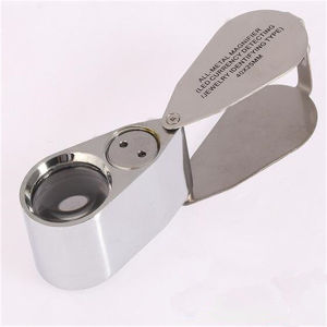 Portable 40X Jewelry Magnifier Loupe, Folding Pocket Mini LED Jewelry Magnifier Lamp/Lens with Light (EGS-9893) pictures & photos