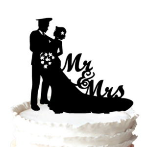 China Funny Bride and Police Groom Silhouette Wedding Cake Toppers ...