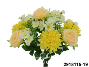Artificial/Plastic/Silk Flower Rose/Chrysanthemum Mixed Bush (2918115-19)