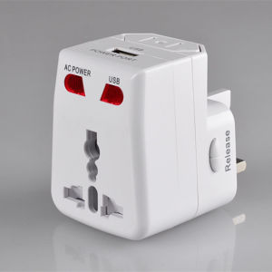 Universal Travel Charger with USB Port, Multiple Colors, High Quality