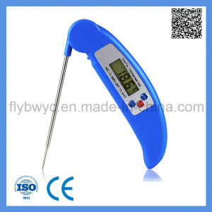Digital Food Thermometer with Collapsible Probe Meat Thermometer for Cooking Kitchen BBQ Thermometer Blue pictures & photos
