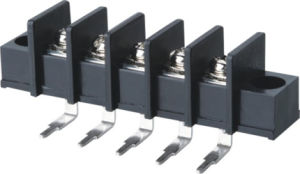 Wanjie Black Barrier Terminal Block for Audio Equipment (WJ45RM-9.5) pictures & photos