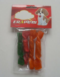 "Dog Chew of Raw Hide & Munchy Candy 4"" for Dog"