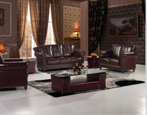 Classical Sofa With Genuine Leather Couches For Sofa Set