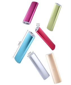 Good Quality 18650 Battery Colorful Famous Brand Mobile Metal Power Bank 10400mAh