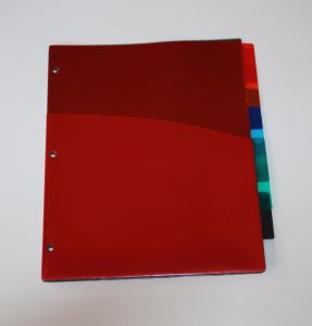 8- Tab, Letter Size Index Dividers with Pockets, Manufacturer of Index Divider in China