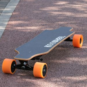 Factory Wholesale Four Wheels Dual Hub Battery Powered Electric Skate Longboard pictures & photos